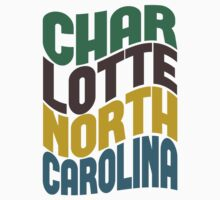 Charlotte North Carolina Retro Wave Kids Clothes