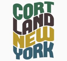 Cortland New York Retro Wave Kids Clothes