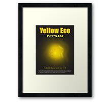 Yellow Eco Framed Print
