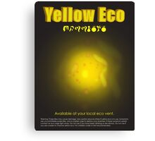 Yellow Eco Canvas Print