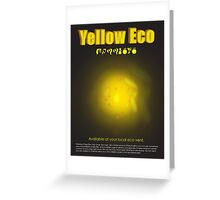 Yellow Eco Greeting Card