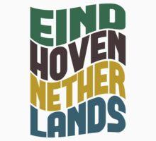 Eindhoven Netherlands Retro Wave Kids Tee