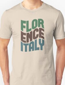 Florence Italy Retro Wave T-Shirt