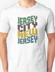 Jersey City NJ Retro Wave T-Shirt