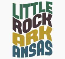 Little Rock Arkansas Retro Wave Kids Clothes