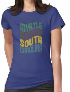 Myrtle Beach South Carolina Retro Wave Womens Fitted T-Shirt