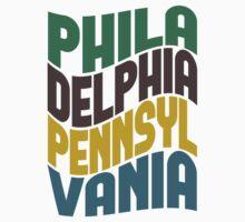 Philadelphia Pennsylvania Retro Wave Kids Clothes