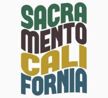 Sacramento California Retro Wave Kids Clothes