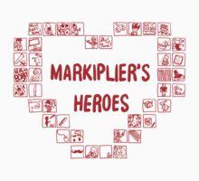 Markiplier's Heroes - Heart Doodle Kids Tee