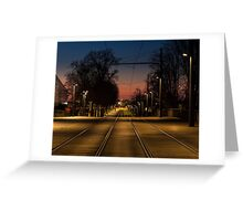 On The Rails Greeting Card
