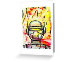 PYRO-BOT Greeting Card