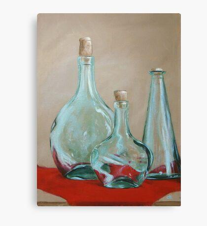 Three Bottles Canvas Print