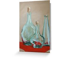 Three Bottles Greeting Card