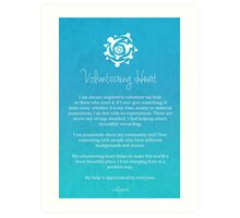 Affirmation - Volunteering Heart Art Print