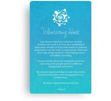 Affirmation - Volunteering Heart Canvas Print
