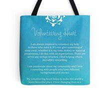 Affirmation - Volunteering Heart Tote Bag