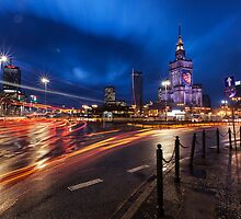 Warsaw at Night by Curtis Budden