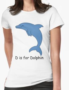 D is for Dolphin Womens Fitted T-Shirt