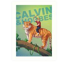 Calvin & Hobbes BADASS Art Print
