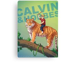 Calvin & Hobbes BADASS Canvas Print