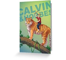 Calvin & Hobbes BADASS Greeting Card