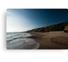 Bournemouth Beach Huts Canvas Print