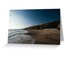 Bournemouth Beach Huts Greeting Card