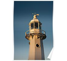 Mevagissey Lighthouse in the Evening Poster