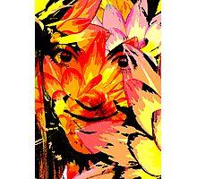 Vivid Floral Portrait Photographic Print