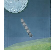 """Jules Verne """"From the Earth to the Moon"""" by RedHillPrints"""