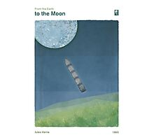 """Jules Verne """"From the Earth to the Moon"""" Photographic Print"""