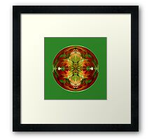 Amazed on Green Framed Print