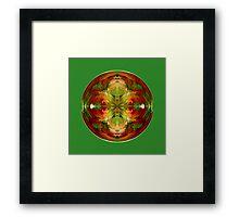 Amazed on Green Framed Print