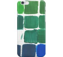 artist green acrylics palette iPhone Case/Skin