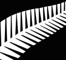 New Zealand Silver Fern Flag  Sticker