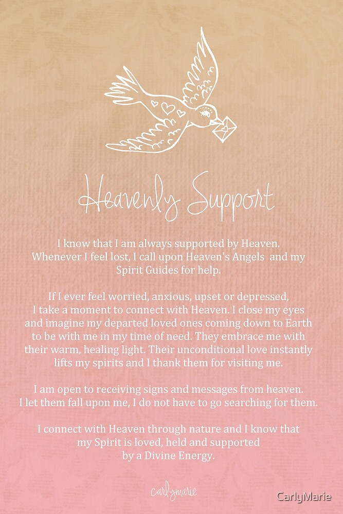 Quot Affirmation Heavenly Support Quot By Carlymarie Redbubble