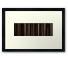Moviebarcode: Memoirs of a Geisha (2005) Framed Print