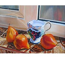 3 pears from Italy Photographic Print