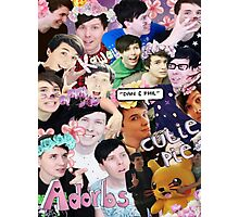 Dan and Phil collage  Photographic Print