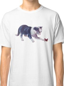 Cat Playing With A Butterfly Classic T-Shirt