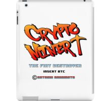 Bitcoin Crypto Miner Retro Game Design iPad Case/Skin