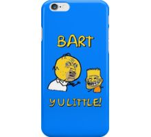 Y U Little Homer + Bart Simpson Mashup Meme iPhone Case/Skin