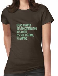 life as a writer Womens Fitted T-Shirt