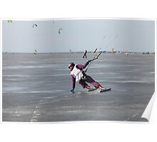 ice kiting Poster