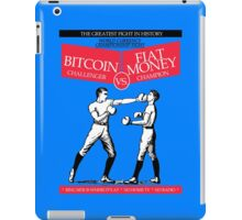 Bitcoin vs Money Boxing Fight Retro Design iPad Case/Skin