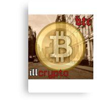 Bitcoin - BTC ill crypto Canvas Print