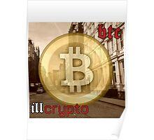 Bitcoin - BTC ill crypto Poster