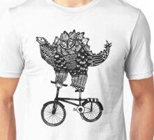 Dinosuar Love Bike Unisex T-Shirt