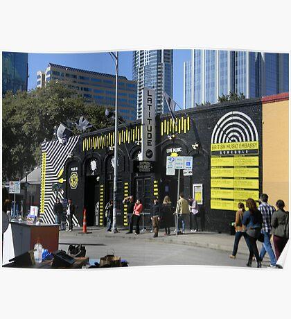 A SXSW Music Venue Poster
