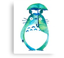 Water color Totoro Canvas Print